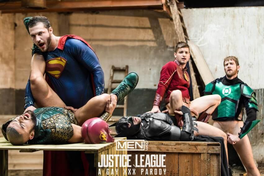 Justice League gay porn fucking