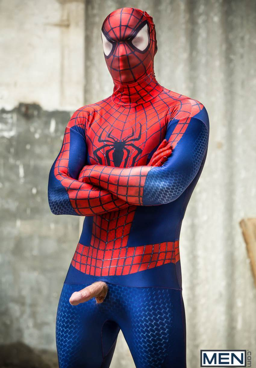 Spiderman gay porn will braun in suit